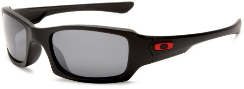 Ducati Oakley Men's Fives Squared Rectangular Sunglasses,Matte Black Frame/Black Iridium Lens,one size