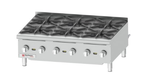 Grindmaster-Cecilware Hpcp636 Heavy Duty Stainless Steel Gas Hot Plate With 6 Burners