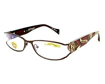 36925a2f3da5 Ed Hardy EHO 730 Women Designer Eyeglasses Matte Brown