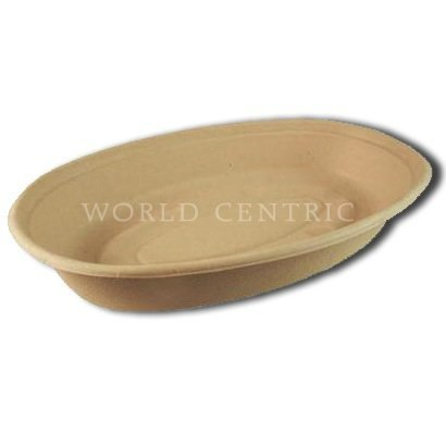 World-Centrics-100-Biodegradable-100-Compostable-32-Ounce-Plant-Fiber-Burrito-Bowls-Case-of-300