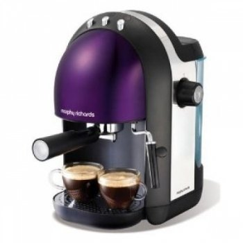 Morphy Richards Meno 47587 Espresso Maker, Plum