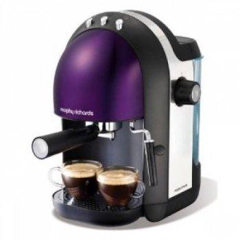 Morphy Richards Meno 47587 Espresso Maker, Plum
