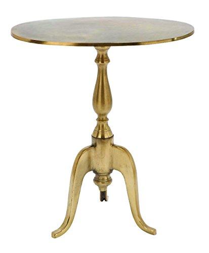 Benzara Aluminium Tea Table with Turned Leg Design (Mirrored Pedestal compare prices)