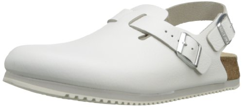 Birkenstock Professional Men's Tokyo Super Grip Leather Slip Resistant Work Shoe,White,38 EU/7-7.5 N US
