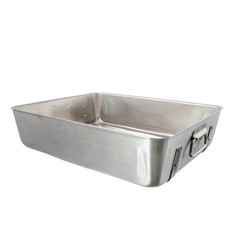 Vollrath 4482 12-Gauge Aluminum Wear-Ever Roasting Pan Bottom with Straps for Double Roaster, 11-1/2-Quart