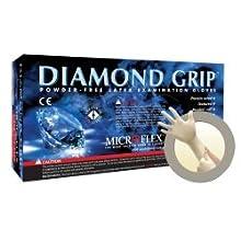 Microflex MF300S Powder Free Diamond Grip Latex Gloves Size Small (100 per Box)