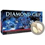 "Microflex Diamond Grip Latex Glove, Powder Free, 9.6"" Length, 6.3 mils Thick"