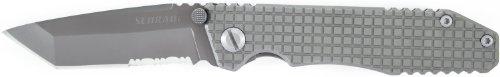 Schrade Sch308S Frame Lock Partially Serrated Folding Knife