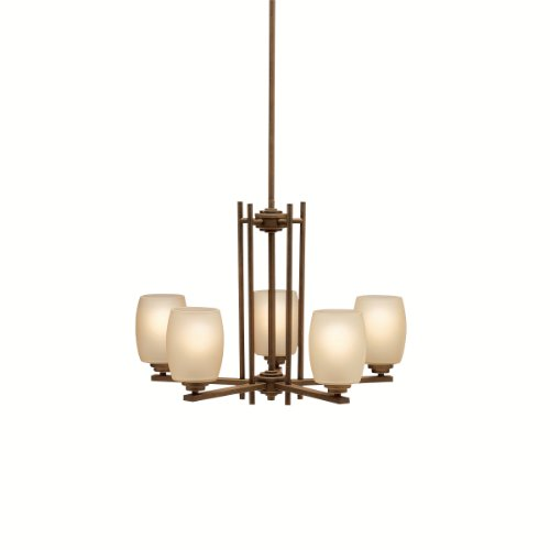 B0014H8WL2 Kichler Lighting 1896OZ Eileen 5-Light Up/Down Chandelier, Olde Bronze with Umber-Etched Glass