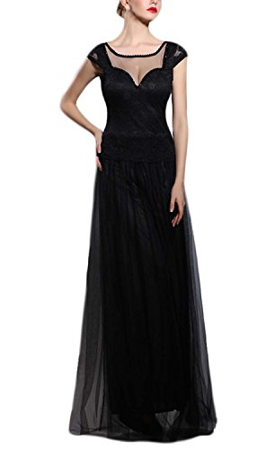 fanhao-womens-suqare-neck-short-sleeves-lace-long-prom-bridesmaid-dressblackl