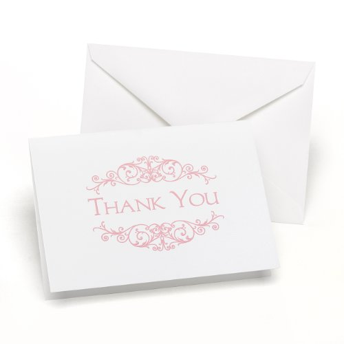 Hortense B. Hewitt Flourish Frame Thank You Cards Wedding Accessories, Set of 50