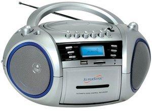 Supersonic SC-183UM PORTABLE MP3/CD/WMA PLAYER, CASSETTE RECORDER, AM/FM RADIO & USB/SD/MMC INPUTS