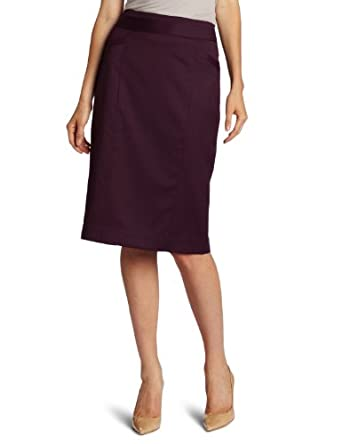Pendleton Women's Petite Encore Skirt, Aubergine Broadway Blend, 2