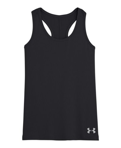 Under Armour Big Girls' Ua Victory Tank Youth Medium Black front-986345