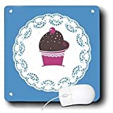 TNMGraphics Food and Drink - Chocolate Cupcake on Doily - Mouse Pads