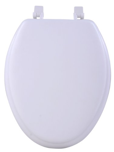 Achim Home Furnishings Tovyelwh04 19-Inch Fantasia Elongated Toilet Seat, Soft White