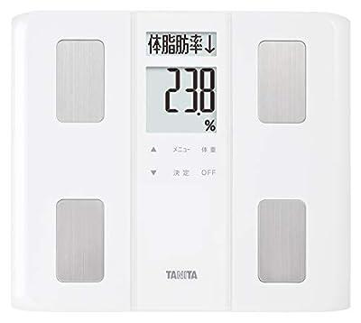 タニタ 体重 体組成計 50g 日本製 ホワイト Bc-331 Wh ダブル液晶採用でわかりやすく見やすい 立掛け収納Ok