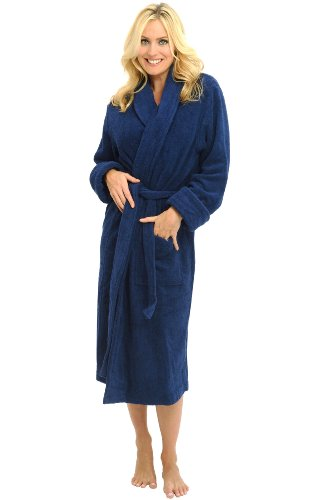 Del Rossa Women's Terry Cloth Cotton Bathrobe