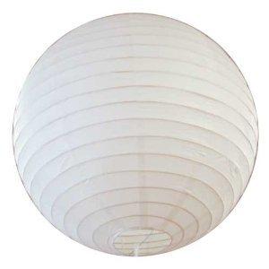 White Round Japanese Rice Paper Lantern - 12