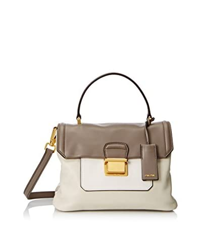 Miu Miu Women's Borsa Vitello Soft Hand Bag, Talco/Arg As You See