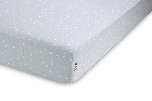 GUND Babygund Twinkle Twinkle Deluxe 300 Thread Count Crib Sheet, Twinkle Twinkle - Peek A Blue, 28'' By 52''