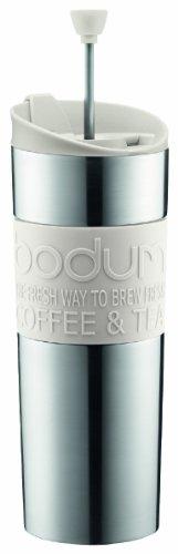 咖啡泡茶利器,Bodum 双层不锈钢450ml法压壶图片