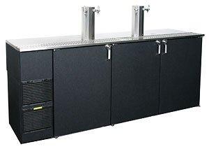 "84"" Stainless Steel Top Four Keg Direct Draw Beer Dispenser - Glastender Kc84-L1-Bs(Llr)"