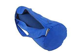 Yoga Mat Bag Extra Large Organic Cotton By Bean Products - Cobalt Blue