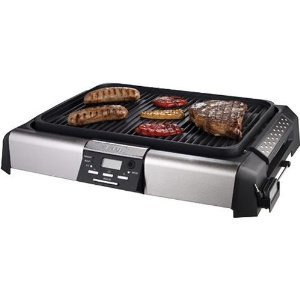 Viante CUC-01G Indoor Grill-Griddle (Black & Stainless Steel)