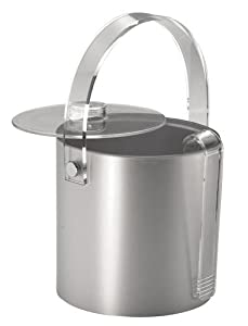 Ice bucket with lid and tongs- double walled