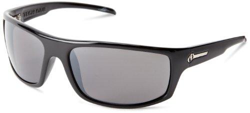Electric Visual Tech One Gloss M2 Es11601664 Polarized Rectangular Sunglasses,Gloss Black,66 Mm