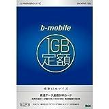 日本通信 有効期間30日間「bモバイル 1GB定額」パッケージ 標準SIMサイズ版 BM-FRM-1GB
