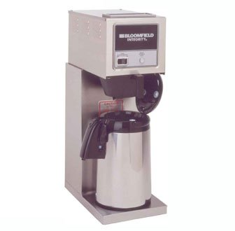 "Bloomfield 8774-A Integrity Airpot Brewer, Pour-Over Option, Stainless Steel, 14 1/4"" Depth, 8 3/4"" Width, 25 1/4"" Height front-358149"