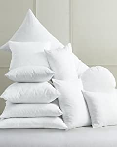 Amazon.com: 210 Thread Count Feather/Down Decorative Pillow Inserts - Large Square: Home & Kitchen