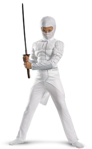 [Storm Shadow Classic Muscle Costume - Large] (White Ninja Costumes For Kids)