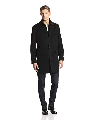 Andrew Marc Men's Chance Wool Top Coat with Removeable Bib