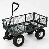 Green 400-Pound Capacity Steel Wagon Cart by Tricam Farm & Ranch