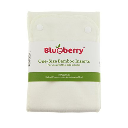 Blueberry One Size Bamboo Extra Diaper Insert Set - 3 Pack - 1