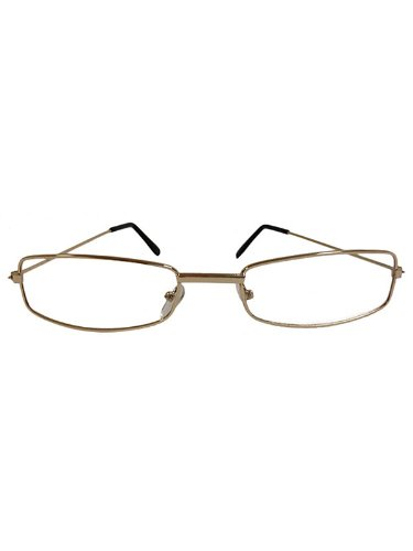 Rectangular Wire Rim Glasses Costume Accessory