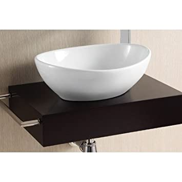 Caracalla Caracalla CA4047-No Hole-637509835477 Ceramica II Collection Bathroom Sink, White