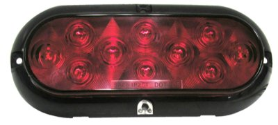 Peterson M423R-4 Piranha Led Surface Mount Oval Stop, Turn Tail Light With Chrome Bezel Multi-Vo