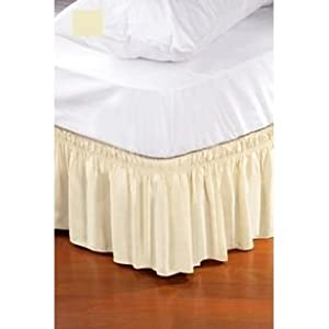 600tc solid ruffle bed skirt beige color full xl size 14 drop length fitted sheet. Black Bedroom Furniture Sets. Home Design Ideas