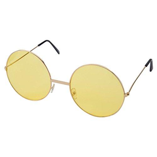 Lunettes hippie ronde jaunes