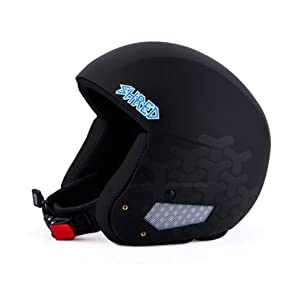 Shred Mega Brain Bucket Ski Racing Helmet, Burg Black Large XLarge (59-61.5cm) by SHRED