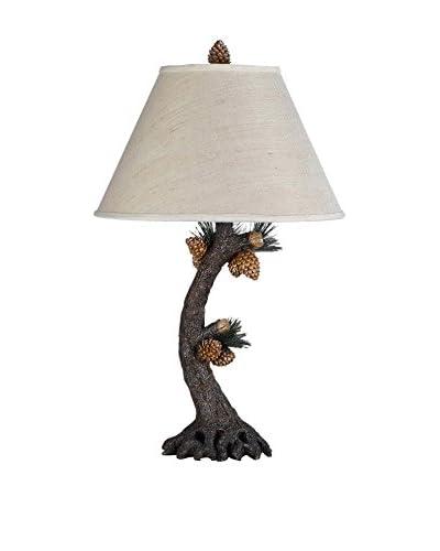 Bristol Park Lighting Pinecone Table Lamp, Evergreen