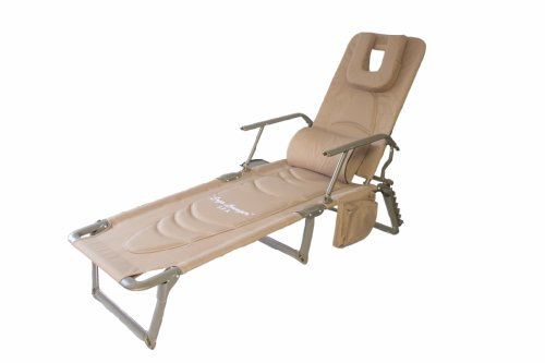 Best Ergolounger SpaTM Spa Lounger Luxury Padded Ergonomic Aluminum Port
