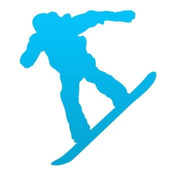 Snowboard Figure... Blue (18 X 15.8 inch) W9785