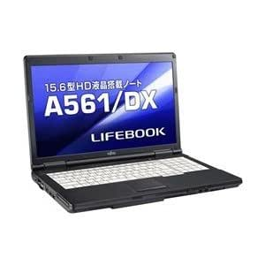 富士通 LIFEBOOK A561/DX (Cel B710/2GB/320GB/DVD-ROM/Win7 Pro/Office無) FMVXN4LO4Z