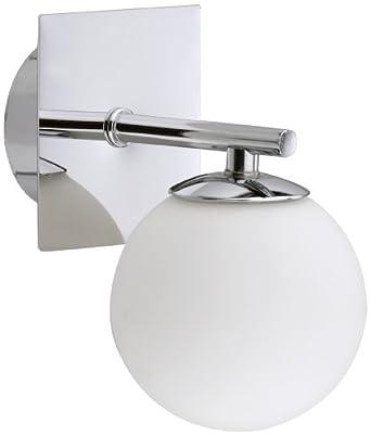 briloner leuchten 2146 018 2146 018 applique murale halog ne de salle de de bains avec 1. Black Bedroom Furniture Sets. Home Design Ideas