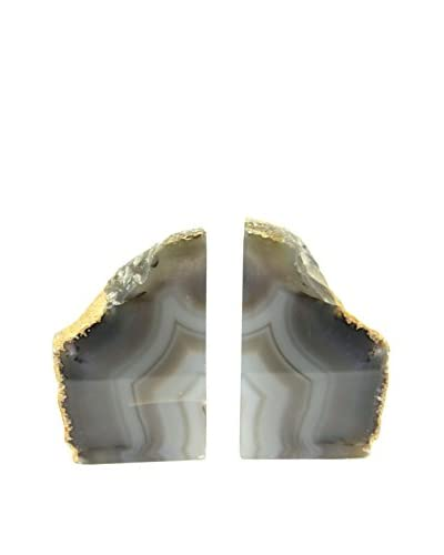 Natural Agate Bookends, Small